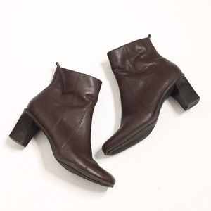 Croft & Barrow | Brown Leather Ankle Boots/Booties